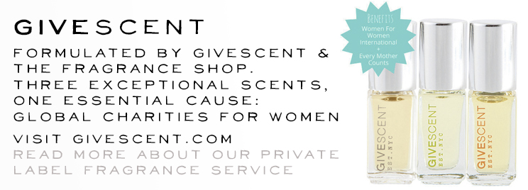 GiveScent · A TFS Private label scent for global Women's charities