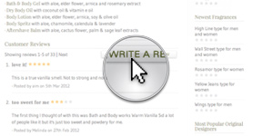 Write A Review From A Fragrance Page